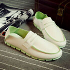 Soft Loafer Driving Sneakers PU Leather Canvas Casual Slip On Fashion Mens shoes