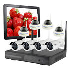 Vcamdo Home Wireless CCTV System Security Camera Kit with Monitor Hard Drive