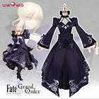 Fate stay night Saber cosplay custume Holloween party black dress