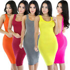 Womens Summer Wiggle Pencil Bodycon Short Mini Dress Ladies Evening Party Ball