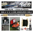 SWA 2-3-4-5 Core 1.5mm-25mm Steel Wire Armoured Per Meter External Power Cables