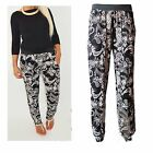 WOMENS LADIES PAISLEY FLORAL PRINT HAREM TROUSER ALIBABA LEGGINGS PLUS SIZE 8-26