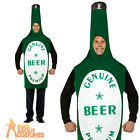 Adult Light Weight Beer Bottle Costume Green Funny Stag Fancy Dress Outfit New