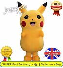Pikachu Mascot Costume - Pokemon ✔ Complete Adult Outfit ✔ All Sizes - UK