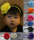 10 x Girls Rose Hairband Elastic Headband Children Wholesale Joblot