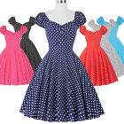 ROCK N ROLL Vintage Swing Evening Dress HOUSEWIFE 50S Retro Pin Up Party Dresses