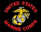 United States Marine Corps Embroidered Black T-Shirt S-5XL USMC