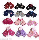 Childrens kids Knitted Winter Gloves for boys and girls, One size 4-8 years