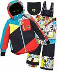 Deux par Deux Boys' 2-Piece Snowsuit Call Your Drop In Printed, Sizes 4-14