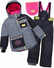 Deux par Deux Girls' 2-Piece Snowsuit Neon Pop Check, Sizes 6-14