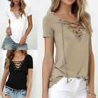 Fashion Womens Loose Pullover T Shirt Short Sleeve Cotton Tops Shirt Blouse FO