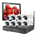 Home Wireless Outdoor Security Camera System Kit with Hard Drive HDMI Monitor