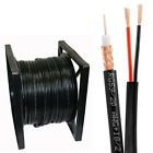 SIAMESE BLACK CABLE 500FT, 1000FT RG59 RG59U SECURITY CCTV CAMERA WIRE