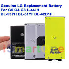 Genuine NEW LG Replacement Battery For G5 G4 G3 L-44JH BL-53YH BL-51YF BL-42D1F