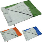 "Double Sleeping Bag Outdoor Wide Camping Hiking 86""x60"" W/2 Pillows 23F/-5C"