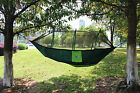 Portable Travel Camping Jungle Outdoor Hammock Hanging Nylon Bed + Mosquito Net