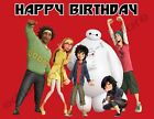Big Hero 6 Personalized Edible Image Premium Cake Topper Frosting Sheets 5 Sizes