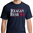 Внешний вид - REAGAN BUSH 84 Retro Tee Shirt Ronald George HW vintage Republican Election 1984