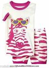 Baby Gap NWT Pink ZEBRA ANIMAL STRIPE 2-piece SHORT PAJAMAS PJS 12 18 24 Months
