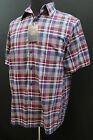 Roundtree and Yorke Men Short Sleeve Casual Shirt Plum Purple Size M L XL New