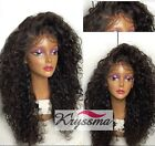 K'ryssma Curly Human Hair Lace Front/Full Lace Wigs 6A Brazilian Hair Wig 150%