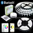 1m-30m 5m RGB LED Strip Band Leiste Bluetooth iOS Android Controller Netzteil