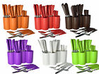 Fingey 24Pc Leather Effect Plastic Handle Cutlery Set Tableware Stainless Steel