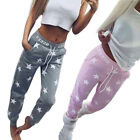 Womens New Star Print Ladies Bottoms Waistband Tracksuit Jogging Joggers Pants