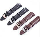 Genuine Leather Wristwatch Straps Watch Bands Pin Buckle Black Brown 18 20 mm