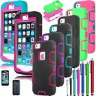 For Apple iPhone 5 5s SE Rubber Impact Resistant Cover Case  Outer Box