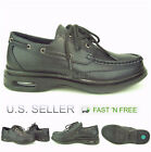 Mens Restaurant Oil Resistant Kitchen Work Shoes Lace up Boat Pu Non Slip Black
