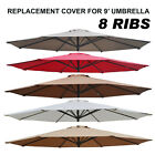 9ft 8 Ribs Patio Umbrella Cover Canopy Replacement Parasol Top Outdoor