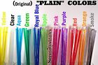 """PLAIN Acrylic Straws, Solid Colors, 1/4"""" Wide x 9"""" or 10 1/2"""", Reusable BPA Free"""