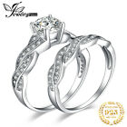 JewelryPalaceInfinity CZ Engagement Hochzeit Braut Set Ringe 925 Sterlingsilber