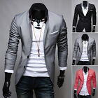 2016 Stylish Men's Casual Slim Fit Two Button Suit Blazer Coat Jacket Tops CHEAP