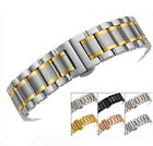Stainless Steel Bracelet Watch Band Strap Push Button Deployment Hidden Clasp