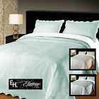 Elainer Julia Soft Touch Bedspread Floral Embroidered Cotton, Single Double King