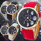 Watch Astronomy Wrist Band Comely Women Moon Phase Leather New Men