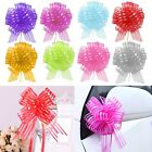 Внешний вид - 10pcs 50mm Large Organza Ribbon Pull Bows Wedding Car Party Decoration Gift Wrap