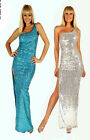 For the Holidays Made to Order Elegant One Shoulder Sequin Evening Gown