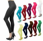 Basic Seamless Solid Stretchable Full Length Leggings Nylon Spandex XS S M L