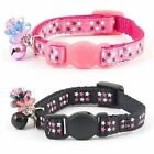 Ancol kitten collar with star pattern & charm safety buckle & bell pink or black