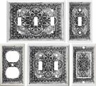 light switch covers decorative - TUSCAN TILE GRAY IMAGE HOME DECOR LIGHT SWITCH COVER PLATE OR OUTLET V877