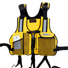 Promotions Adult Life Vest Jacket Fishing Pocket Buoyancy Aid Kayak Canoe Black