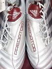 Soccer cleats shoes women Adidas Absolion Predator G02612 silver dark red Nwt 9