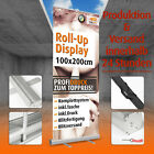 ROLL UP DISPLAY inklusive DRUCK 85x200cm 100x200cm inkl Tasche RollUp Banner