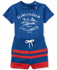 NWT Ralph Lauren Baby Boys Graphic T Shirt & Striped Shorts Set
