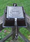 Antique Griswold Cast Iron No.11 American Square Waffle Irons Base Ring