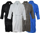 Mens Ladies 100% Cotton Shawl Collar Towel Terry Towelling Bathrobe Robe gown