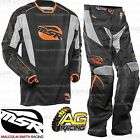 MSR Xplorer Summit Black Orange Jersey & Pants Combo Kit MotoX Enduro Quad ATV